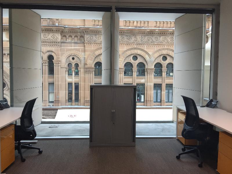 6 Person Serviced Office Space in Sydney CBD, Clost To Town Hall Station & Facing QVB With Views and Natural Light - New Building